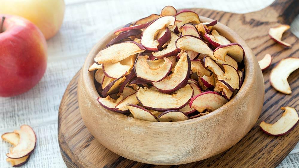 Сушеные яблоки в похудении