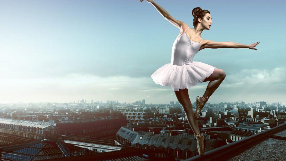 балерина на крыше
